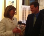 Rep. Jo Ann Emerson with School Board Member Pat Mara